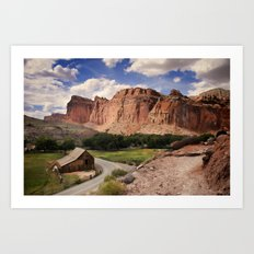 Old Barn, Capitol Reef Art Print