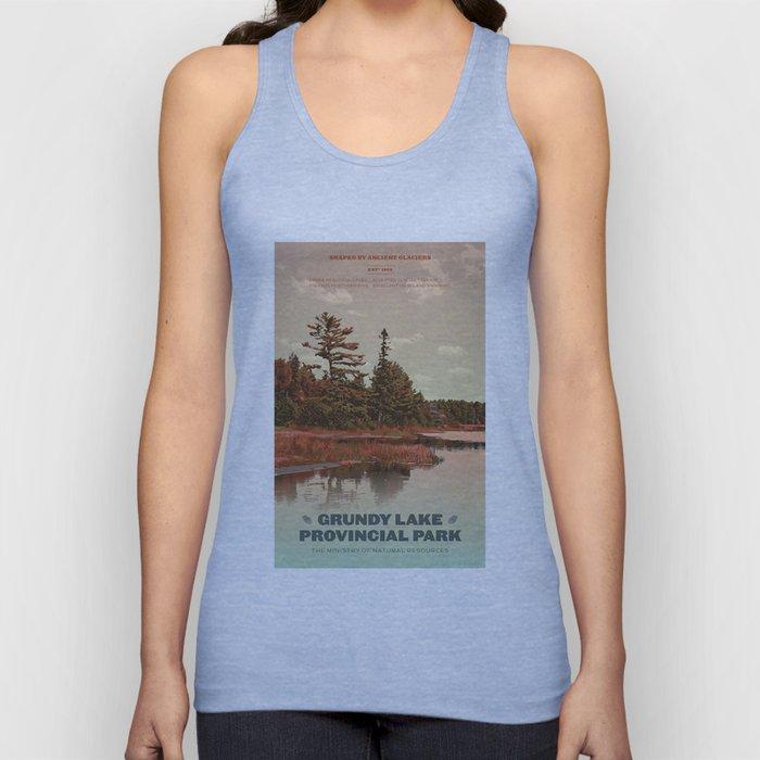 Grundy Lake Provincial Park Poster Unisex Tank Top