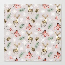 Xmas Pattern Beige #socieyt6 #buyart Canvas Print