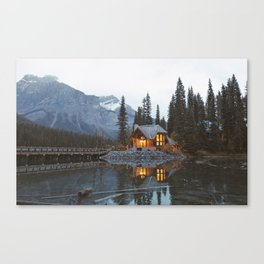 scenic beauty house in deep valley Canvas Print