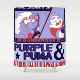 Purple Puma & Tiger Millionaire! Shower Curtain