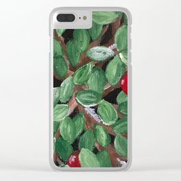 Winterberry Clear iPhone Case