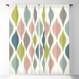 Mid Century Leaf Pattern Pastel Blackout Curtain