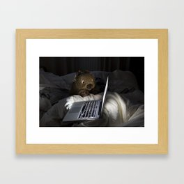 Wombat Internet Addiction Framed Art Print