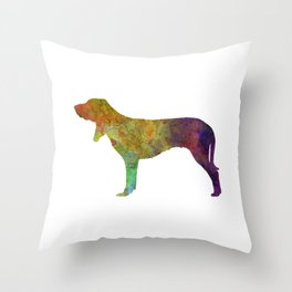 Swiss Hound in watercolor Throw Pillow