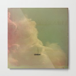 Once Upon a Time a Little Boat Metal Print