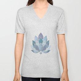 Elegant Glamorous Pastel Lotus Flower Unisex V-Neck