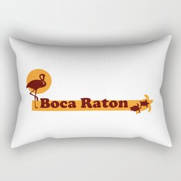 Boca Raton - Florida. Rectangular Pillow
