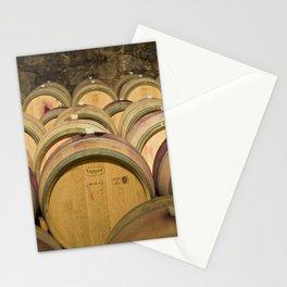 Oak Barrels In Wine Cellar Stationery Cards
