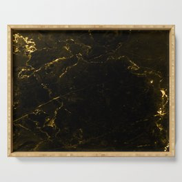 Black Gold Marble Serving Tray