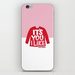 It's You I Like Mister Rogers Sweater iPhone Skin