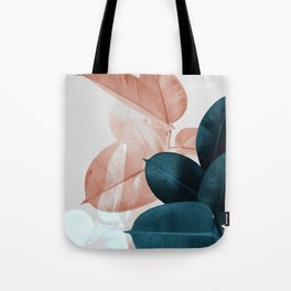 Plant Leaves, Tropical Leaves, Botanical Tote Bag