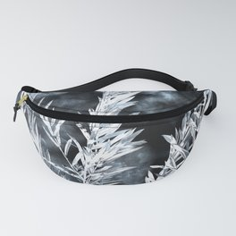 Willow leaves in black and white Fanny Pack