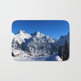 Winter Panorama in Austria Bath Mat