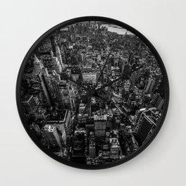 Black and White New York City Wall Clock
