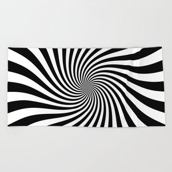 Swirl (Black/White) Beach Towel
