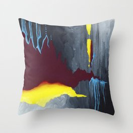 Inside Crystal Mountain Throw Pillow