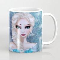 elsa Mugs featuring Elsa by Cherishduhh