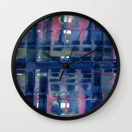 Color Bands by Kathy Morton Stanion Wall Clock