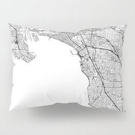 Melbourne White Map Pillow Sham