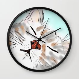 Sweet Dreams Kitty Wall Clock