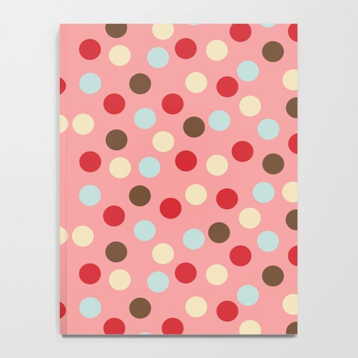 Christmas dots pink Notebook