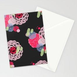 Brush roses Stationery Cards