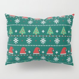 Ugly Christmas Trees Sweater Pattern Pillow Sham