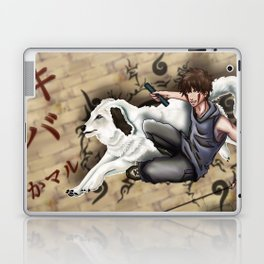 Kiba and Akamaru Laptop & iPad Skin