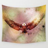 eagle Wall Tapestries featuring Eagle by ron ashkenazi