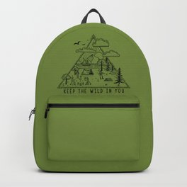 Go Wild Camping Illustration 1 Backpack