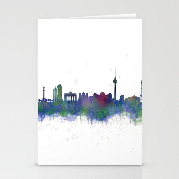 Berlin City Skyline HQ2 Stationery Cards