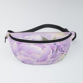 Lavender Peonies Fanny Pack