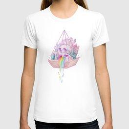 Rainbow Skull Succulent Crystal Garden T-shirt