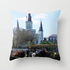 New Orleans Castle Throw Pillow