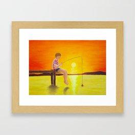 Fishin' Framed Art Print