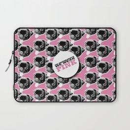 PUG SUKI - WE WEAR PINK PATTERN Laptop Sleeve