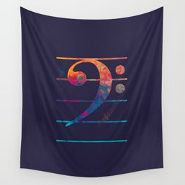 Bass Clef Color Wall Tapestry