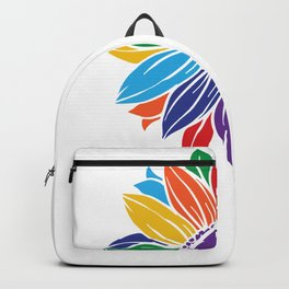 Pride Rainbow Sunflower Let Your True Colors Shine LGBT Backpack