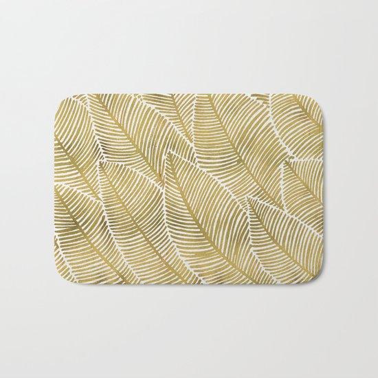 Tropical Gold Bath Mat