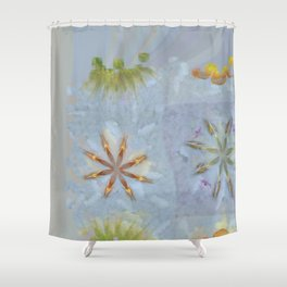 Confusingly Trance Flower  ID:16165-092126-35290 Shower Curtain