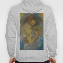 """Alphonse Mucha """"Study for a poster - Fruit"""" Hoody"""