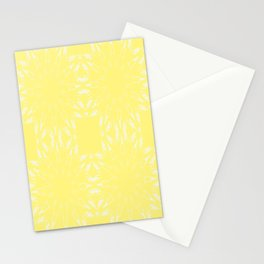 Lemon Yellow Color Burst Stationery Cards