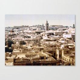 View from Paris Hotel, Tunis, Tunisia, ca. 1899 Canvas Print