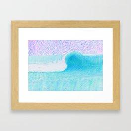 SURF WAVE   WATER COLOR Framed Art Print