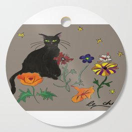 Black cat Le Chat Cutting Board