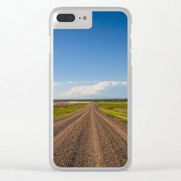 Summer Roads, Glasgow, Montana Clear iPhone Case