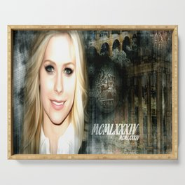A Beautiful Avril Lavigne Singing wallpaper/poster design Serving Tray