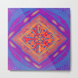 Colourful Weave Metal Print