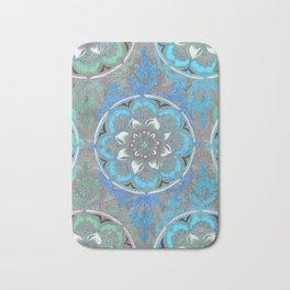 Mint Green, Blue & Aqua Super Boho Medallions Bath Mat